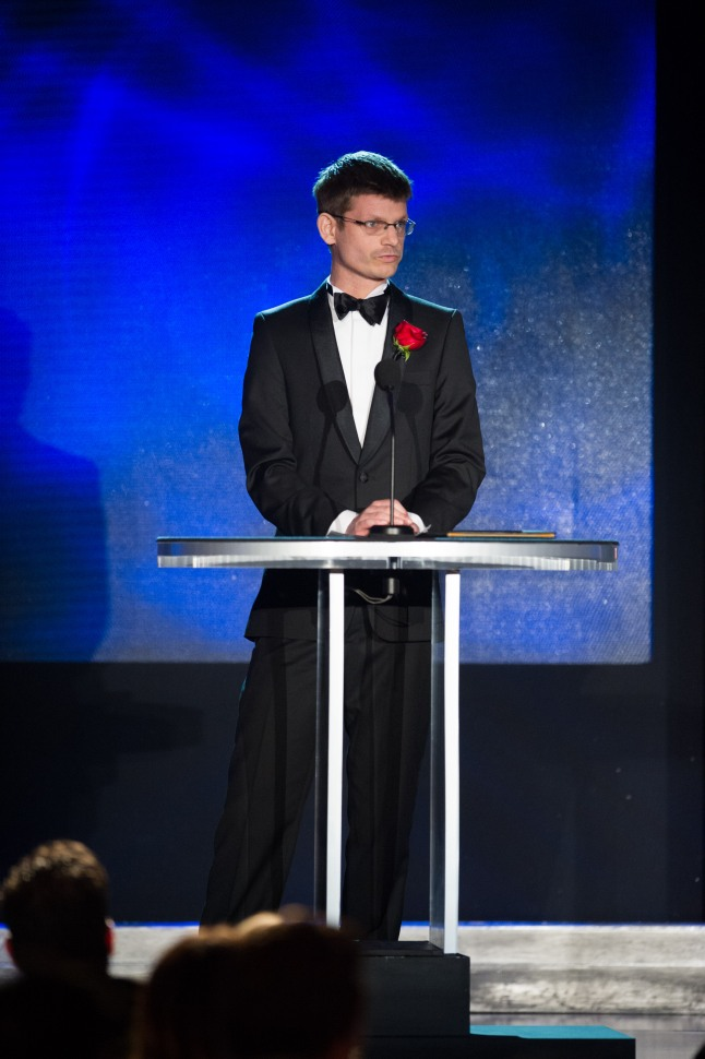 Dr. Peter Hillman during the Academy of Motion Picture Arts and Sciences' Scientific and Technical Achievement Awards on February 15, 2014, in Beverly Hills, California.
