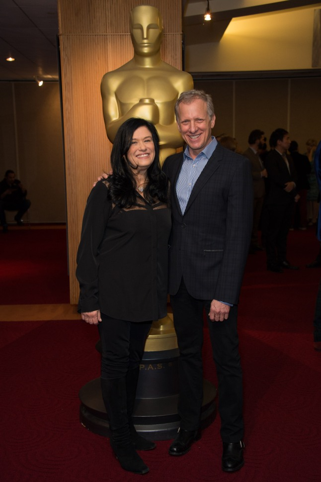 "Hosts Barbara Kopple and Rob Epstein prior to the Academy of Motion Picture Arts and Sciences' ""Oscar Celebrates: Shorts"" event on Tuesday, February 25, 2014 at the Samuel Goldwyn Theater in Beverly Hills."