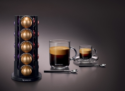 he Nespresso VertuoLine™ system custom brews the finest Grand Cru coffees sourced from the top 1-2% of the world's coffee beans. This is the first and only digitized system that brews a smooth large-cup coffee topped with a silky and generous crema.