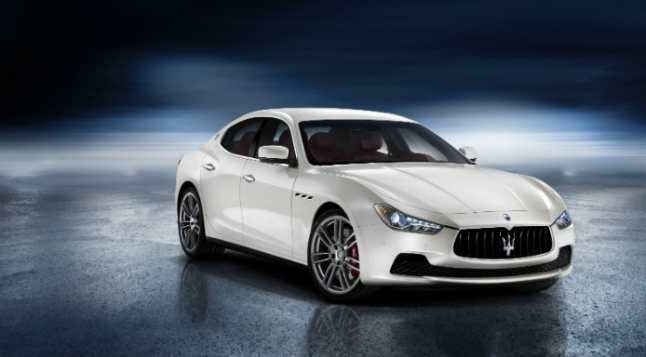 Ghibli, Maserati's first-ever mid-size four-door luxury sports sedan, available in all-wheel-drive, starts at $66,900 and is powered by a Ferrari-built twin-turbo V6, capable of more than 400hp.