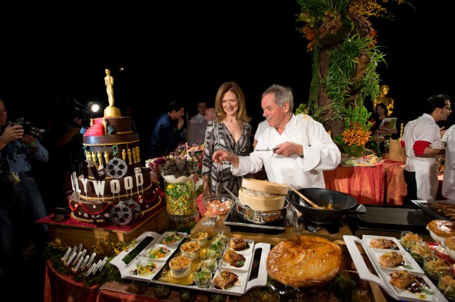 Academy CEO Dawn Hudson and master chef Wolfgang Puck who will return to create this year's Governors Ball menu.