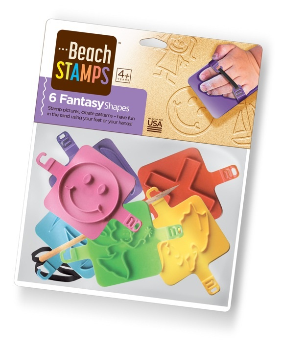 Red Rooster Toy Company Beach Stamps