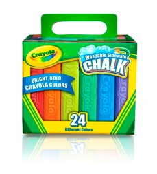 Crayola Washable Sidewalk Chalk 24 Count
