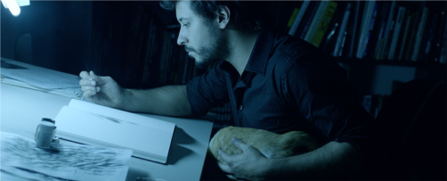 graphic novelist Rafael Grampá at work