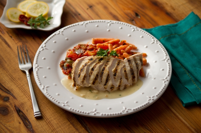 BISTROMD'S GRILLED CHICKEN WITH ROASTED GARLIC VELOUTE SAUCE