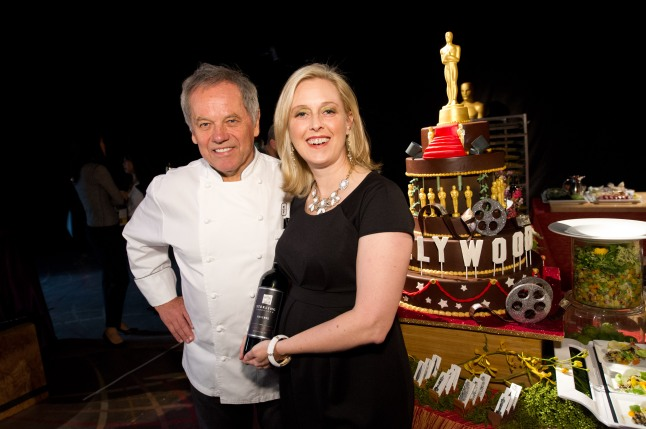 Master chef Wolfgang Puck and Alison Crary, winemaker at Sterling Vineyards.