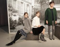 NEW YORK, NY - FEBRUARY 12, 2014: Models show off dresses for Jo