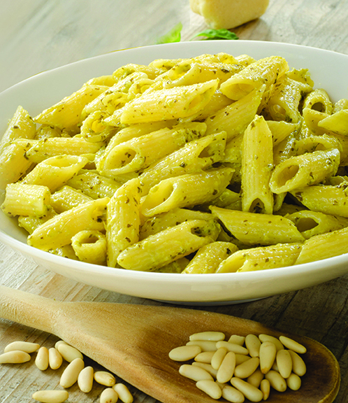 PENNE PASTA WITH PINE NUTS