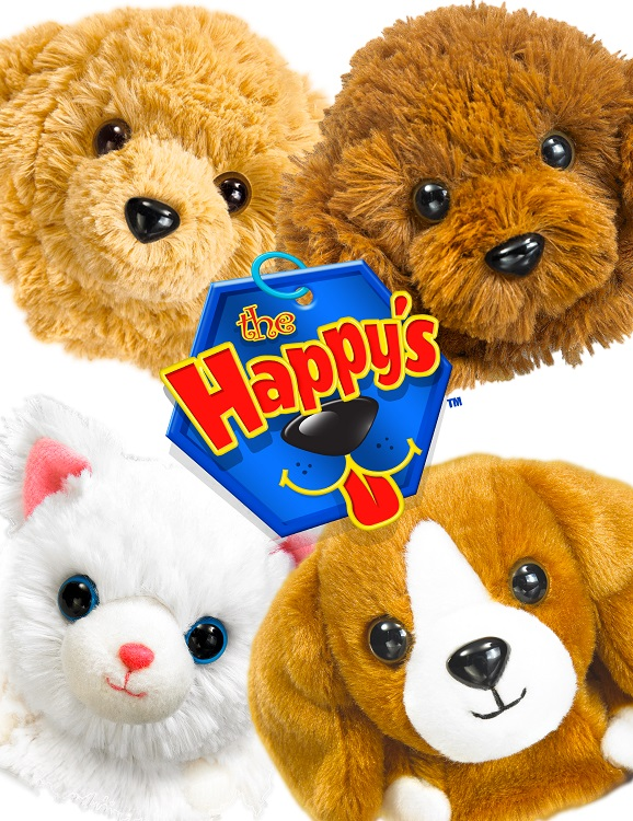 The Happy's™ - 4 pups on white