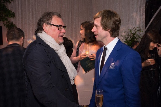 Cinematographer Janusz Kaminski (left) and director Felix Van Groeningen at the reception for the Foreign Language Film Award category for the 86th Oscars®, on Friday, February 28, 2014. The Oscars® will be presented on Sunday, March 2, 2014, at the Dolby Theatre® in Hollywood, CA and televised live by the ABC Television Network.