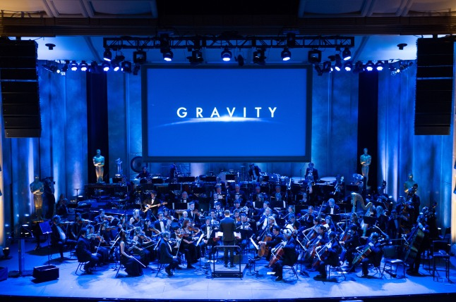 "Oscar® nominated composer Steven Price conducts a suite from his score for ""Gravity"" during the Academy of Motion Picture Arts and Sciences' ""The Oscar Concert"" on Thursday, February 27, 2014 at Royce Hall in Los Angeles. The Oscars® will be presented on Sunday, March 2, 2014, at the Dolby Theatre® in Hollywood, CA and televised live by the ABC Television Network."