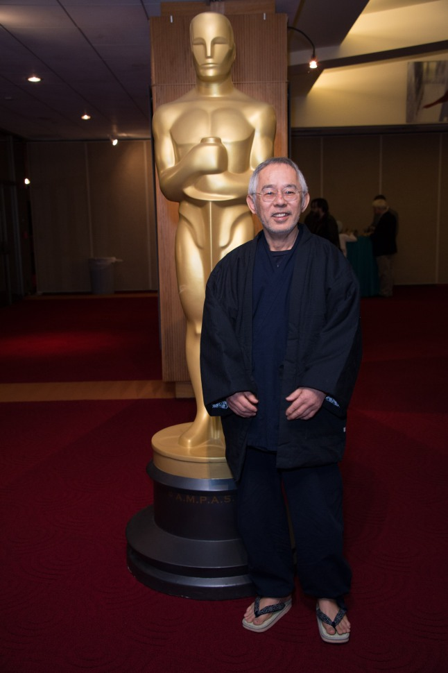 """Animated filmmaker Toshio Suzuki, of the Oscar®-nominated Animated Feature """"The Wind Rises"""", prior to the Academy of Motion Picture Arts and Sciences' """"Oscar Celebrates: Animated Features"""" event on Friday, February 28, 2014 at the Samuel Goldwyn Theater in Beverly Hills."""