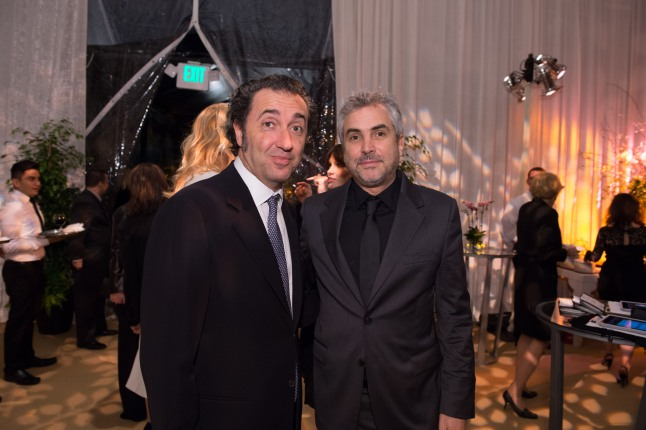 Director Paolo Sorrentino (left) and director Alfonso Cuarón at the reception for the Foreign Language Film Award category for the 86th Oscars®, on Friday, February 28, 2014. The Oscars® will be presented on Sunday, March 2, 2014, at the Dolby Theatre® in Hollywood, CA and televised live by the ABC Television Network.