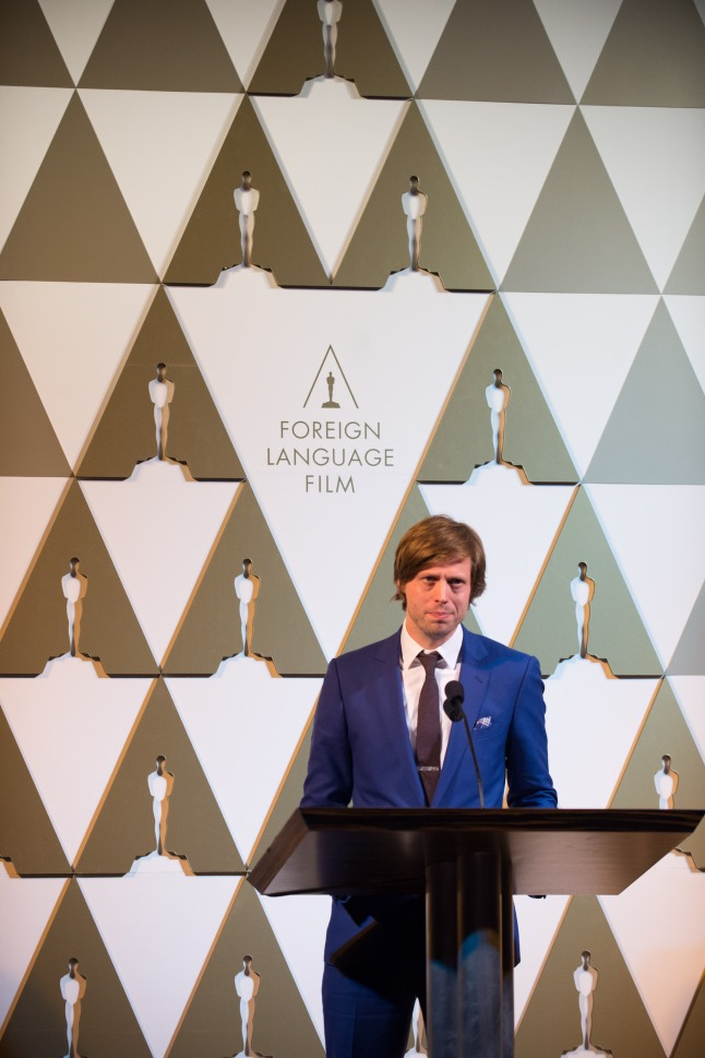 """Felix Van Groeningen, director of the Oscar®-nominated film """"The Broken Circle Breakdown,"""" at the reception for the Foreign Language Film Award category for the 86th Oscars®, on Friday, February 28, 2014. The Oscars® will be presented on Sunday, March 2, 2014, at the Dolby Theatre® in Hollywood, CA and televised live by the ABC Television Network."""