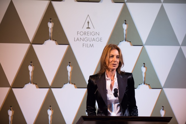 Director Kathryn Bigelow at the reception for the Foreign Language Film Award category for the 86th Oscars®, on Friday, February 28, 2014. The Oscars® will be presented on Sunday, March 2, 2014, at the Dolby Theatre® in Hollywood, CA and televised live by the ABC Television Network.