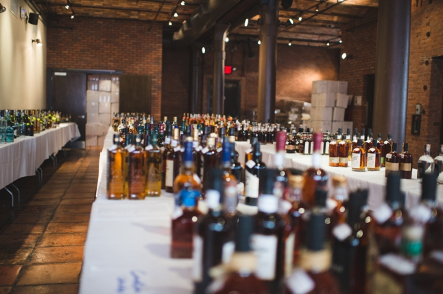 Bottles as far as the eye can see! Entries to Ultimate Spirits Challenge 2014