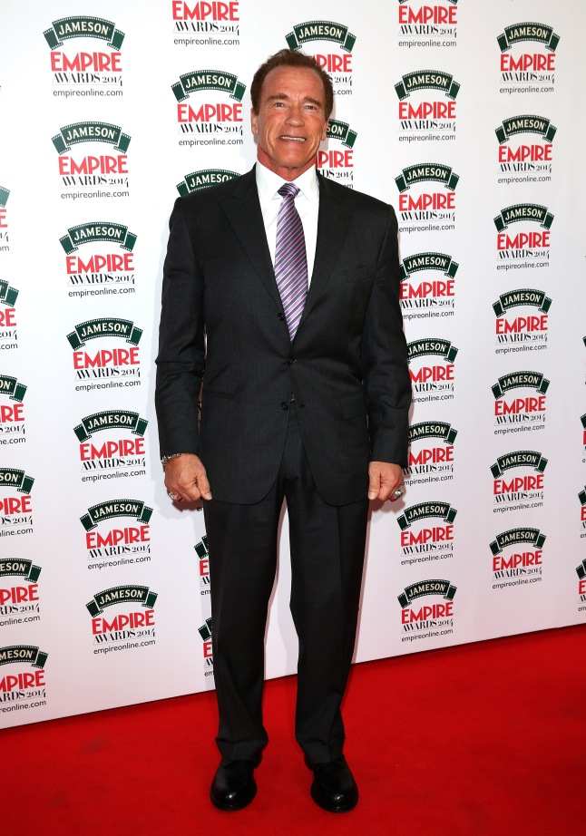 Arnold attends the Jameson Empire Awards 2014 at the Grosvenor House Hotel on March 30, 2014 in London, England.