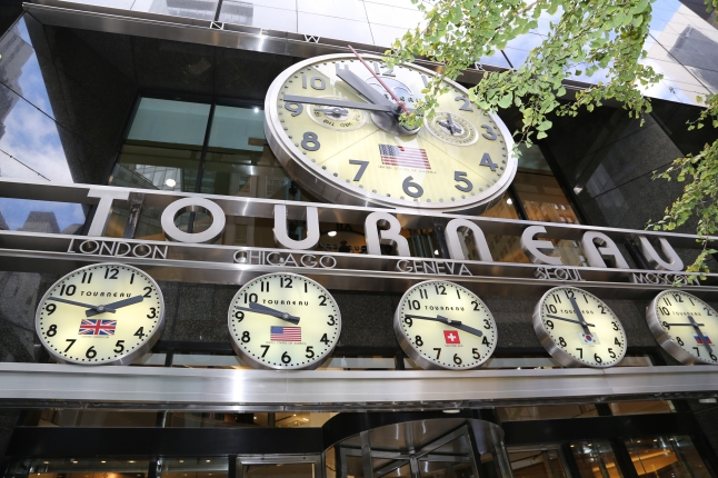 The TimeMachine, Tourneau's flagship location in New York City, where over 8,000 watches will be advanced one hour in preparation for Daylight Saving Time on March 9th