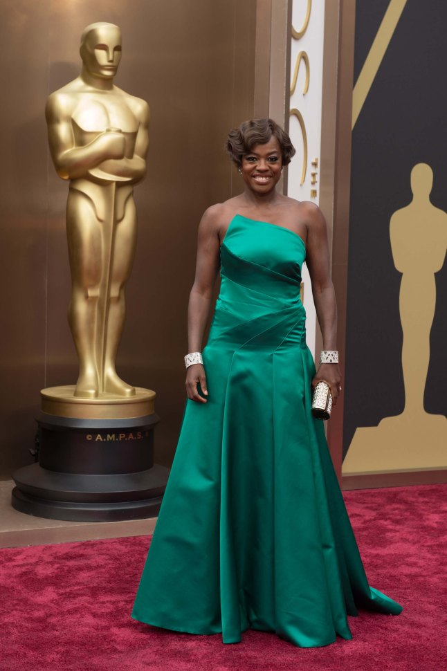 Actress Viola Davis arrives for the live ABC Telecast of The 86th Oscars® at the Dolby® Theatre on March 2, 2014 in Hollywood, CA.