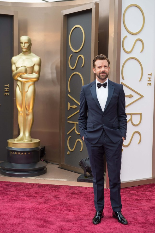 Jason Sudeikis arrives for the live ABC Telecast of The 86th Oscars® at the Dolby® Theatre on March 2, 2014 in Hollywood, CA.