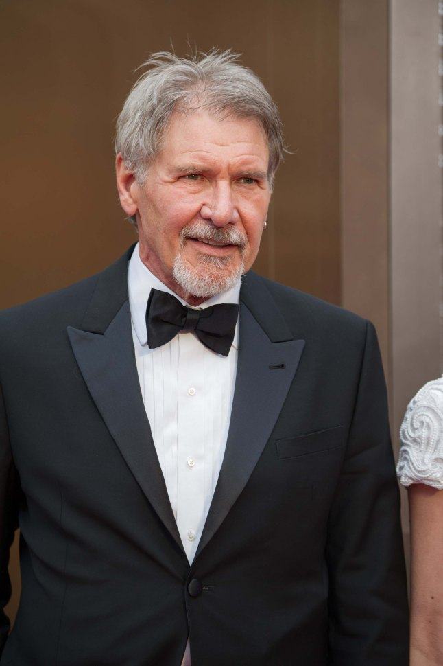 Harrison Ford arrives for the live ABC Telecast of The 86th Oscars® at the Dolby® Theatre on March 2, 2014 in Hollywood, CA.