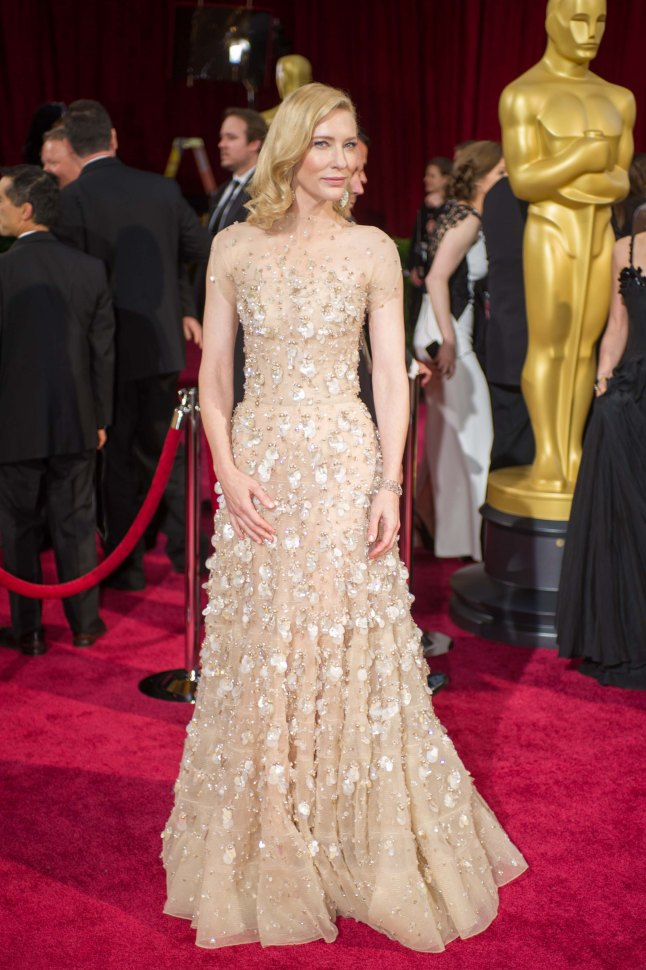 Oscar®-nominated actress Cate Blanchett arrives for the live ABC Telecast of The 86th Oscars® at the Dolby® Theatre on March 2, 2014 in Hollywood, CA.