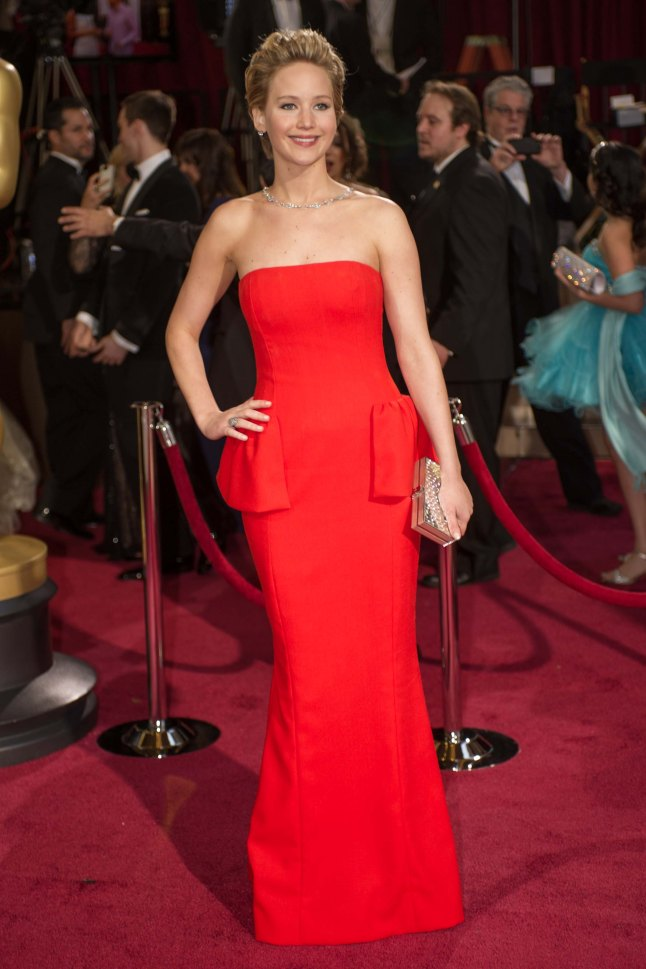 Oscar®-nominated actress Jennifer Lawrence arrives for the live ABC Telecast of The 86th Oscars® at the Dolby® Theatre on March 2, 2014 in Hollywood, CA.