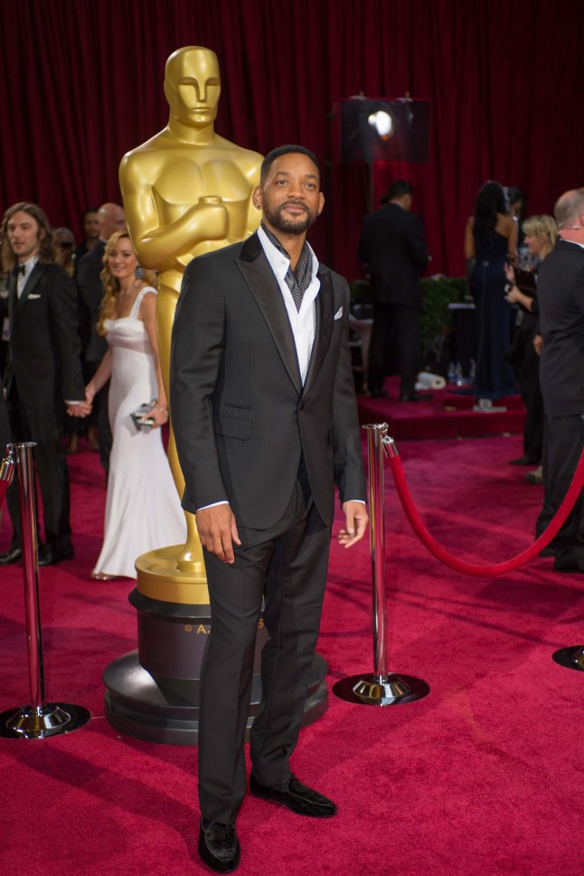 Will Smith arrives for the live ABC Telecast of The 86th Oscars® at the Dolby® Theatre on March 2, 2014 in Hollywood, CA.