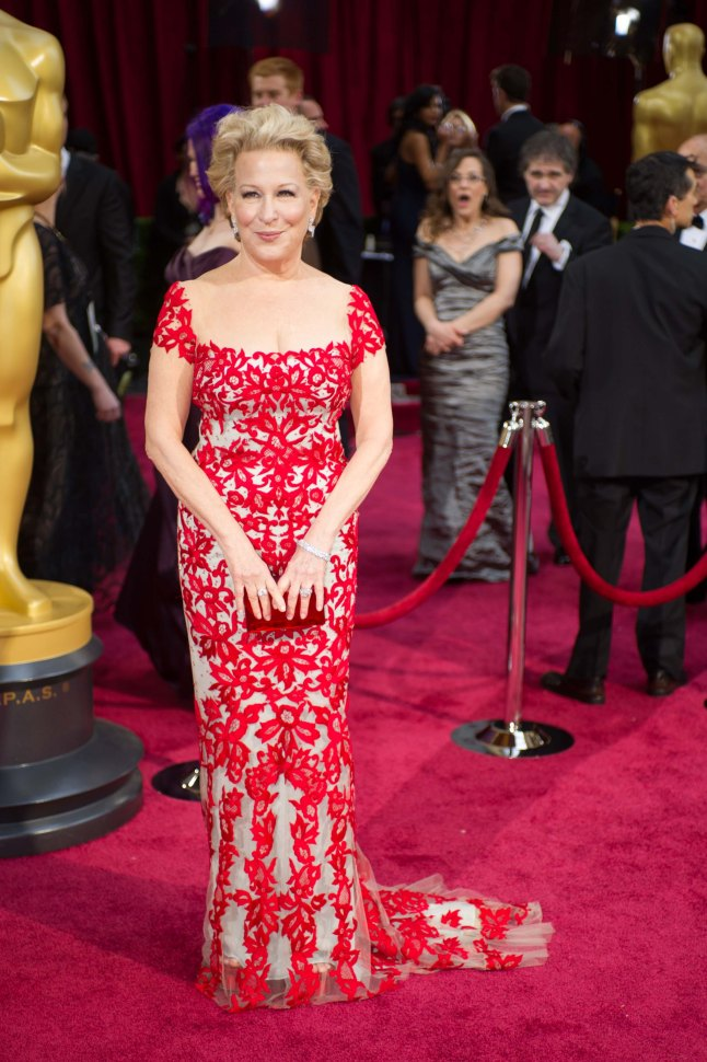 Bette Midler arrives for the live ABC Telecast of The 86th Oscars® at the Dolby® Theatre on March 2, 2014 in Hollywood, CA.