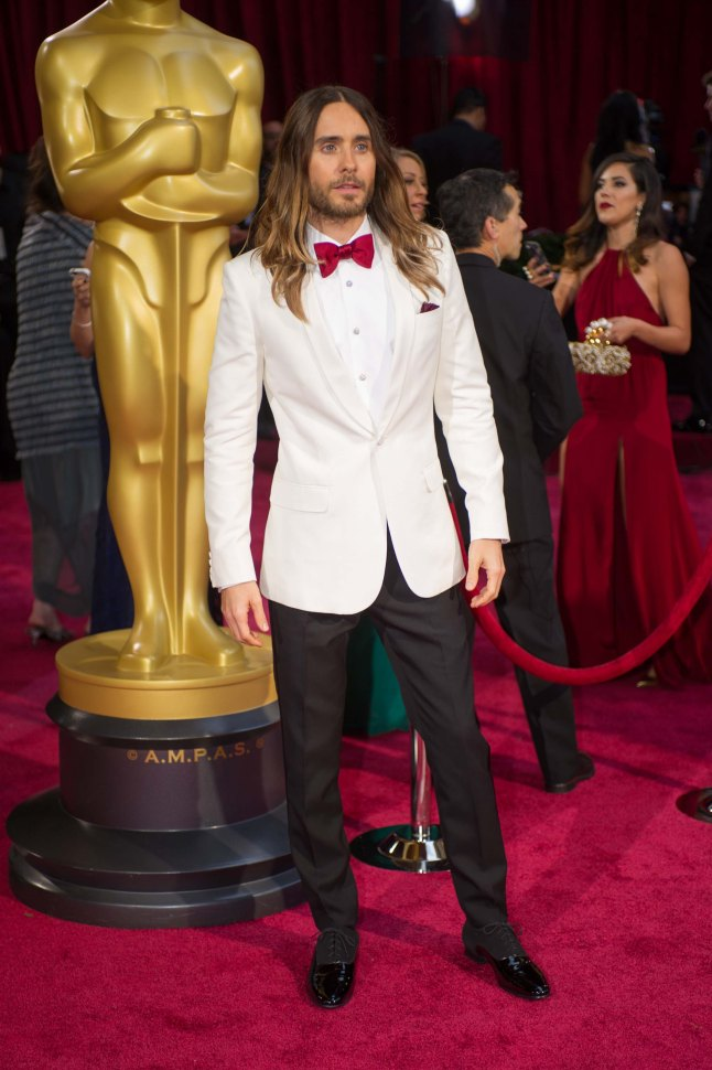Oscar®-Winning actor Jared Leto arrives for the live ABC Telecast of The 86th Oscars® at the Dolby® Theatre on March 2, 2014 in Hollywood, CA.
