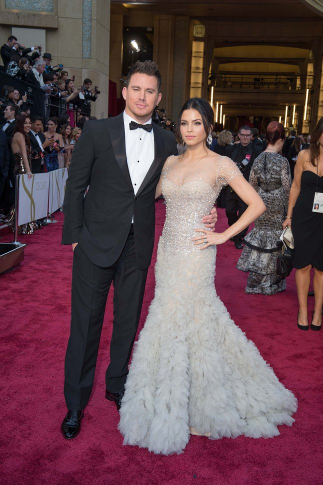 Channing Tatum and Jenna Dewan arrive for the live ABC Telecast of The 86th Oscars® at the Dolby® Theatre on March 2, 2014 in Hollywood, CA.