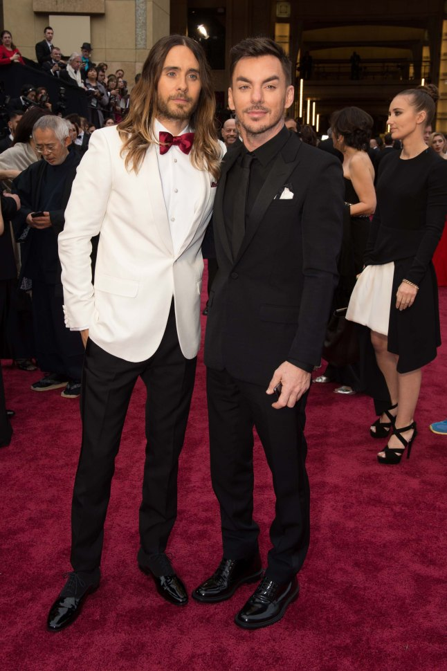 "Oscar® Winner for Best Supporting Actor for his work in ""Dallas Buyers Club"" Jared Leto and his brother, Shannon Leto arrive for the live ABC Telecast of The 86th Oscars® at the Dolby® Theatre on March 2, 2014 in Hollywood, CA."