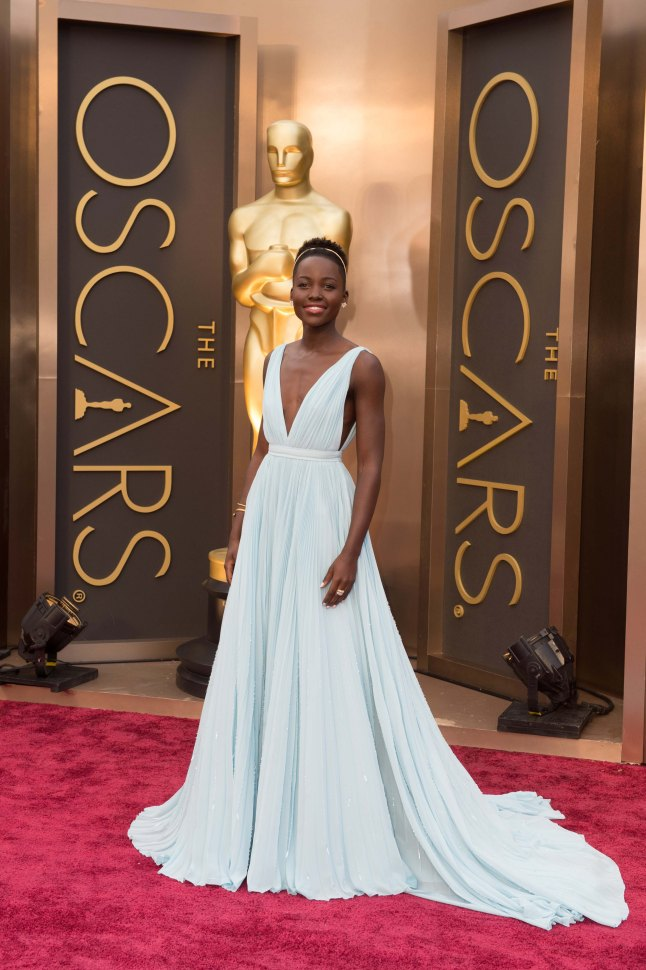 Oscar®-nominated actress, Lupita Nyong'o arrives for the live ABC Telecast of The 86th Oscars® at the Dolby® Theatre on March 2, 2014 in Hollywood, CA.