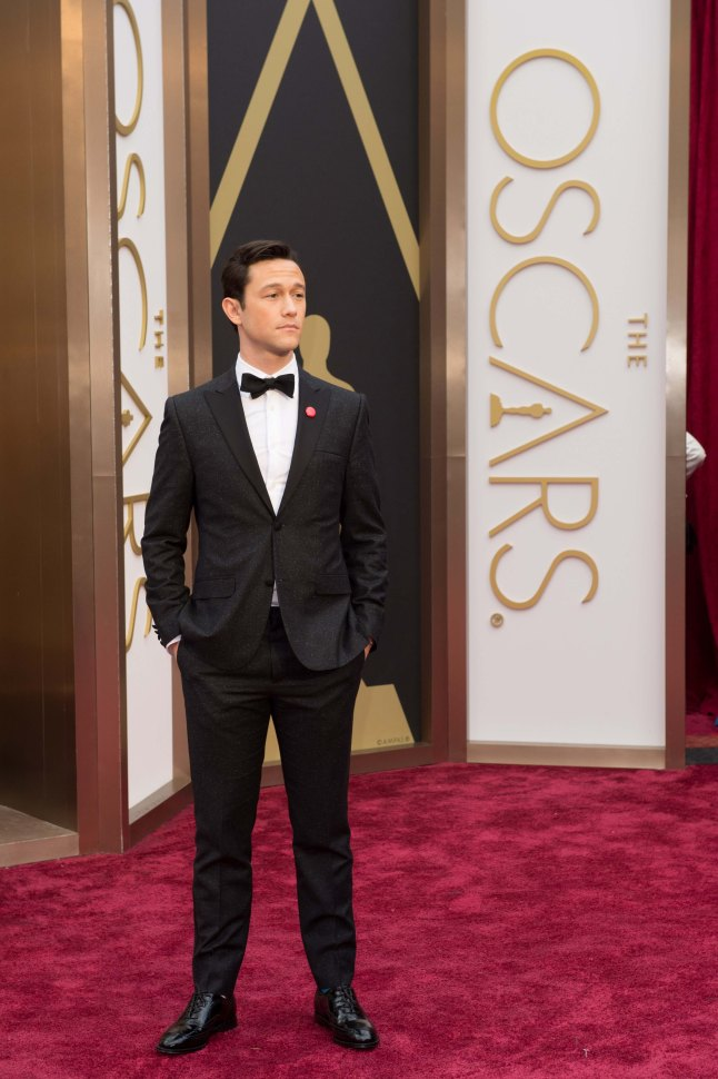 Joseph Gordon-Levitt arrives for the live ABC Telecast of The 86th Oscars® at the Dolby® Theatre on March 2, 2014 in Hollywood, CA.