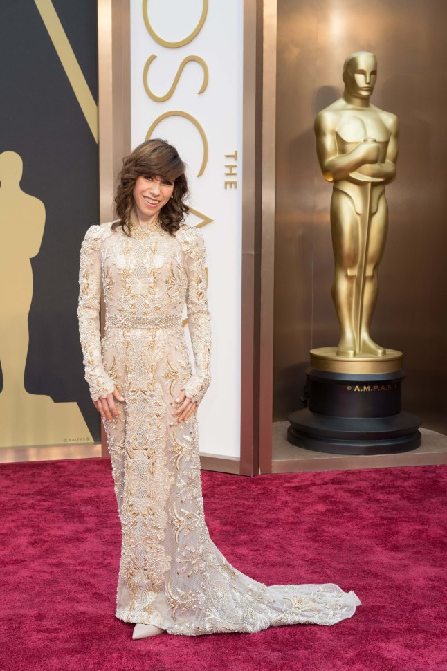 Oscar®-nominated actress, Sally Hawkins arrives for the live ABC Telecast of The 86th Oscars® at the Dolby® Theatre on March 2, 2014 in Hollywood, CA.