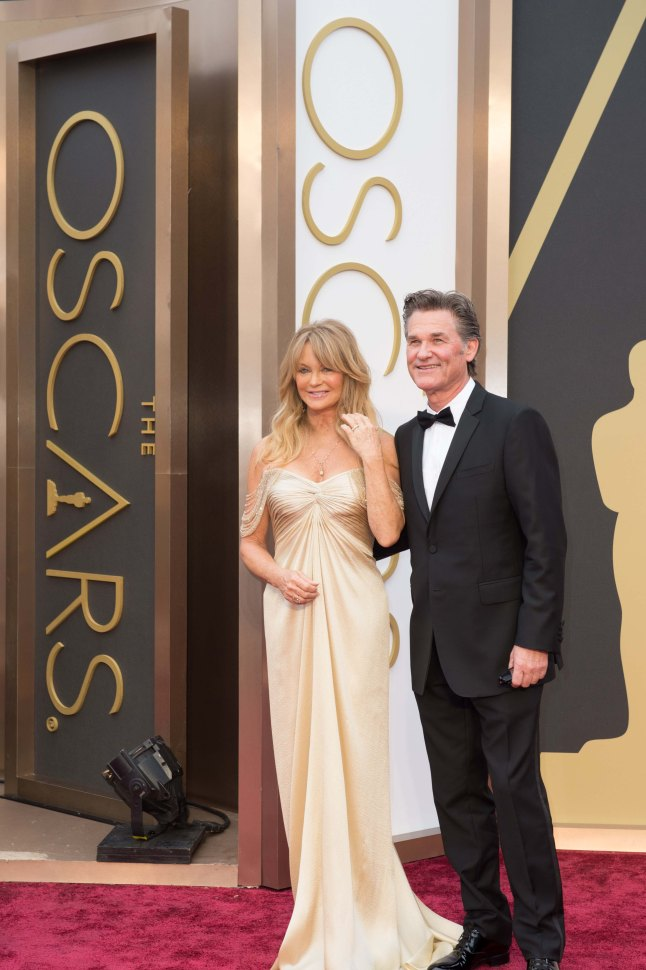 Goldie Hawn and Kurt Russell arrive for the live ABC Telecast of The 86th Oscars® at the Dolby® Theatre on March 2, 2014 in Hollywood, CA.