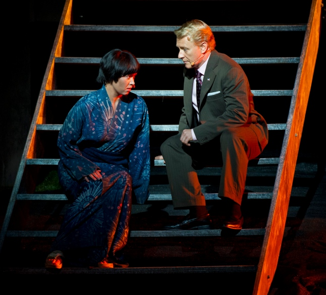 Anna Yun as Suzuki, Michael Honeyman as Sharpless
