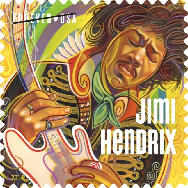 Jimi Hendrix Forever Stamp.  (PRNewsFoto/U.S. Postal Service)