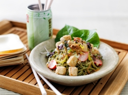 Fried Tofu & Soy Bean Salad by Fresh Catering, Northern, Southern Terrace & Cantina. Image courtesy Fresh Catering
