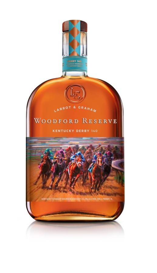 Woodford Reserve celebrates Kentucky Derby 140 with the release of its limited edition commemorative bottle nationwide. (PRNewsFoto/Woodford Reserve)