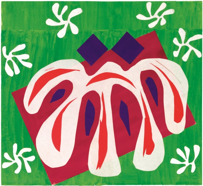 Henri Matisse (French, 1869-1954). Two Masks (The Tomato) (Deux Masques [La Tomate]), 1947. Gouache on paper, cut and pasted. 18¾ x 20 3/8 (47.7 x 51.8 cm). Mr. and Mrs. Donald B. Marron, New York. © 2014 Succession H. Matisse, Paris / Artists Rights Society (ARS), New York