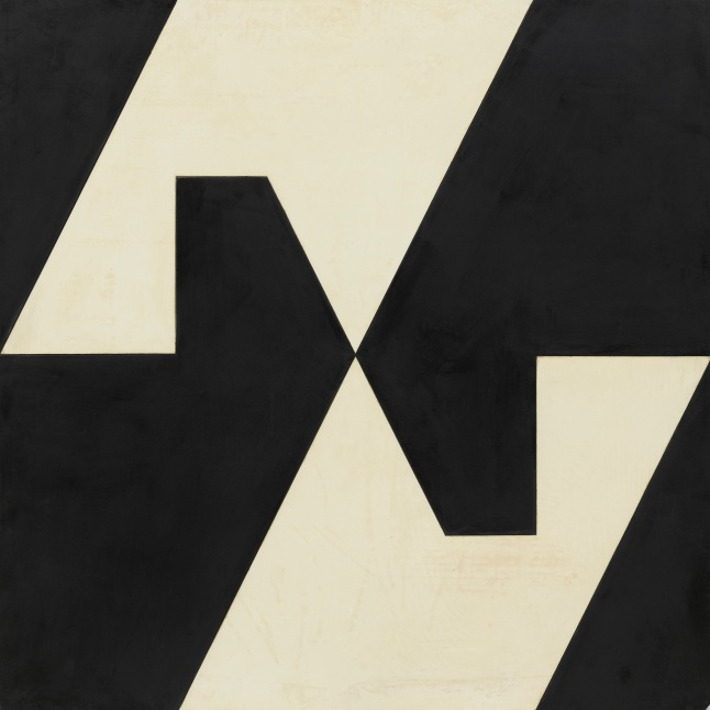 Lygia Clark (Brazilian, 1920–1988). Planes in Modulated Surface 4. 1957. Formica and industrial paint on wood. 39 1/4 x 39 1/4″ (99.7 x 99.7 cm).  The Museum of Modern Art, New York. Gift of Patricia Phelps de Cisneros through the Latin American and Caribbean Fund in honor of Kathy Fuld  © Courtesy of World of Lygia Clark Cultural Association. Photo: © Thomas Griesel