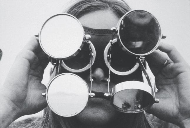 Lygia Clark (Brazilian, 1920–1988). Óculos. 1968. Industrial rubber, metal, glass. 11 7/16 x 7 1/16 x 2 15/16″ (29 x 18 x 7.5 cm). © Courtesy of World of Lygia Clark Cultural Association. Photo: © 2014 Eduardo Clark