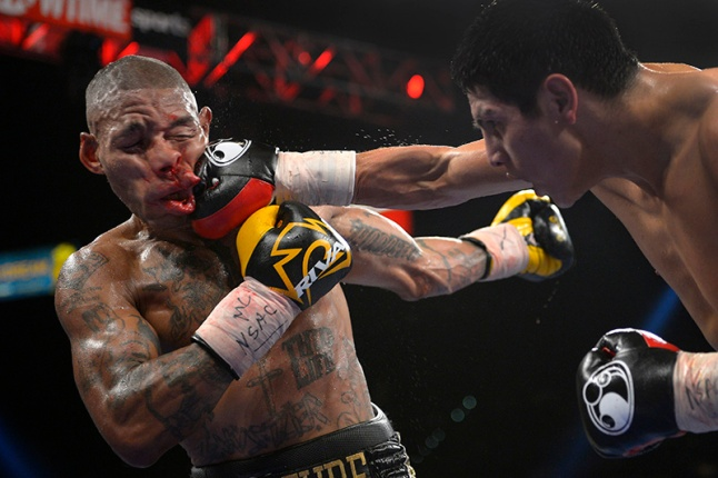 Mark J. Terrill, Associated Press Pablo Cesar Cano, right, lands a punch against Ashley Theophane in the eighth round during a welterweight fight, Saturday, Sept. 14, 2013, in Las Vegas.