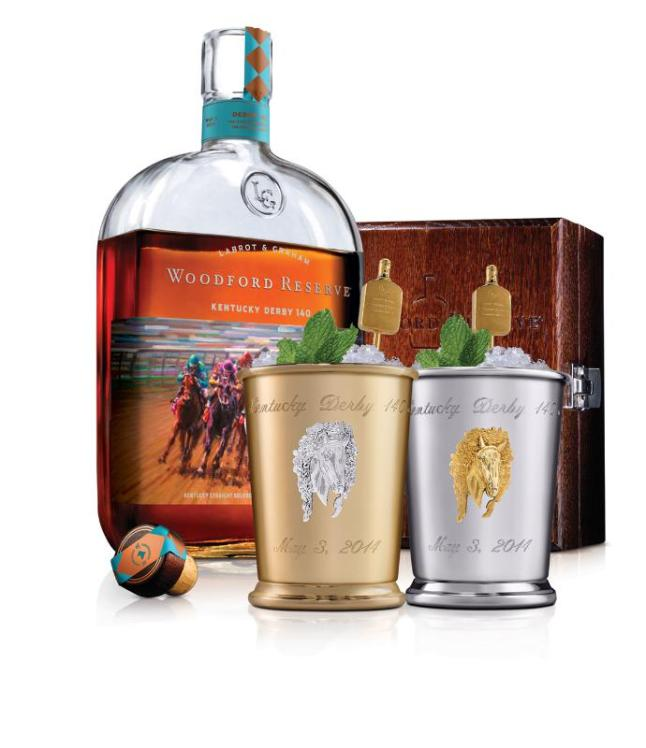 Woodford Reserve announces the $1,000 Mint Julep Cup for charity at the Kentucky Derby on May 3, 2014. Proceeds from the sales of these exclusive cups benefit Old Friends Thoroughbred Retirement Center. (PRNewsFoto/Woodford Reserve)