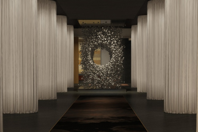 Delano Las Vegas - Gallery Hall - Rendering