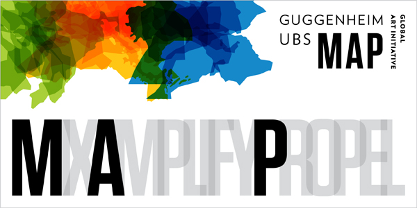 GUGGENHEIM UBS MAP GLOBAL ART INITIATIVE Design by Johnson Banks © Solomon R. Guggenheim Foundation, New York