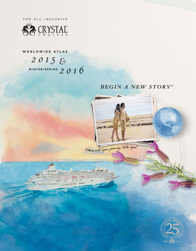 The cover of the 2015-early 2016 Crystal Cruises Atlas.  (PRNewsFoto/Crystal Cruises)