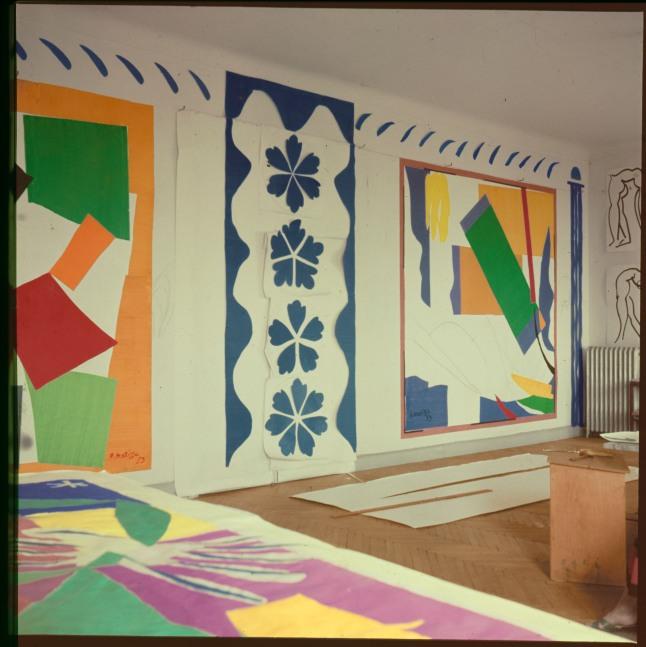 Matisse's studio, Hôtel Régina, Nice, c. 1953. Photo: Lydia Delectorskaya. © 2014 Succession H. Matisse