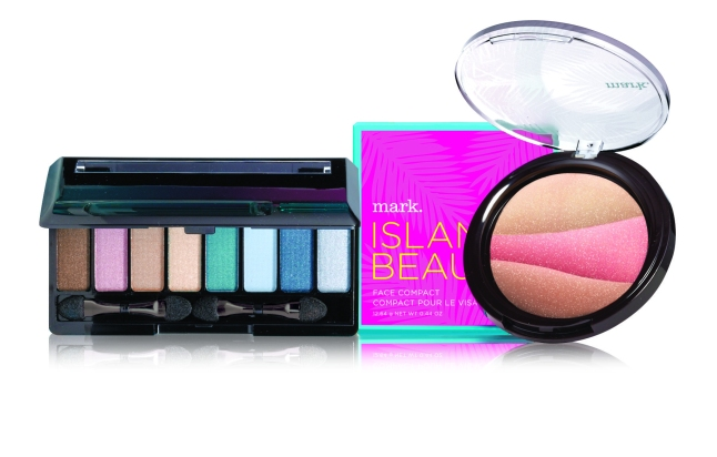 mark. Island Eyes Color Palette and Face Compact